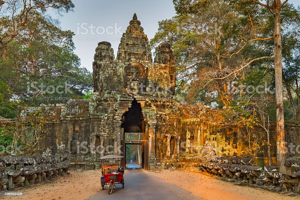 Morning Angkor Wat, Cambodia. stock photo