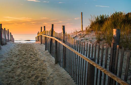 Morning arrives at the beach on Long Beach Island, NJ