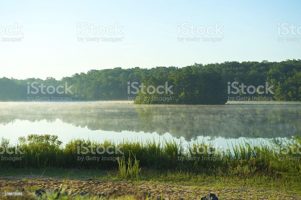 morning at a lake. royalty-free stock photo