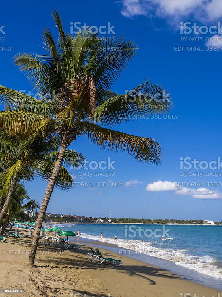 Morning at Cabarete beach, Dominican Republic royalty-free stock photo