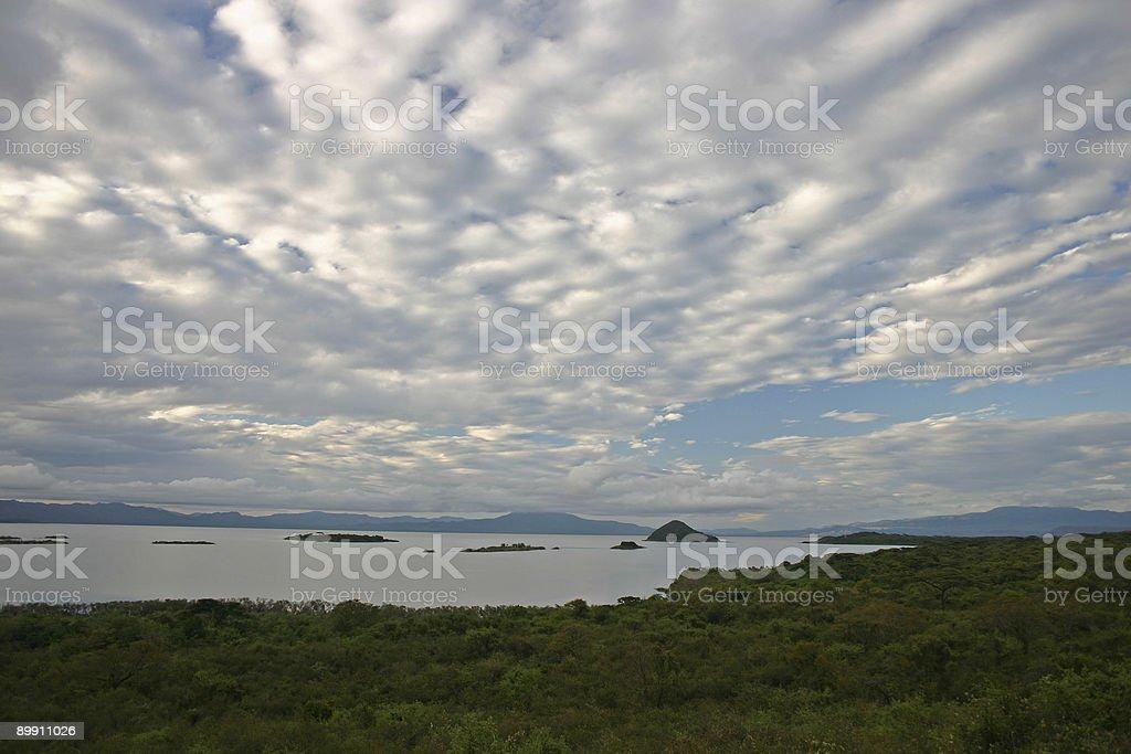 Mañana en el lago Chamo foto de stock libre de derechos