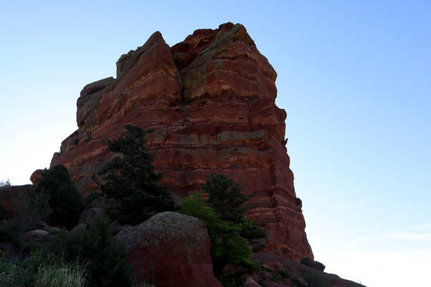 A Morning at Red Rocks in Colorado stock photo