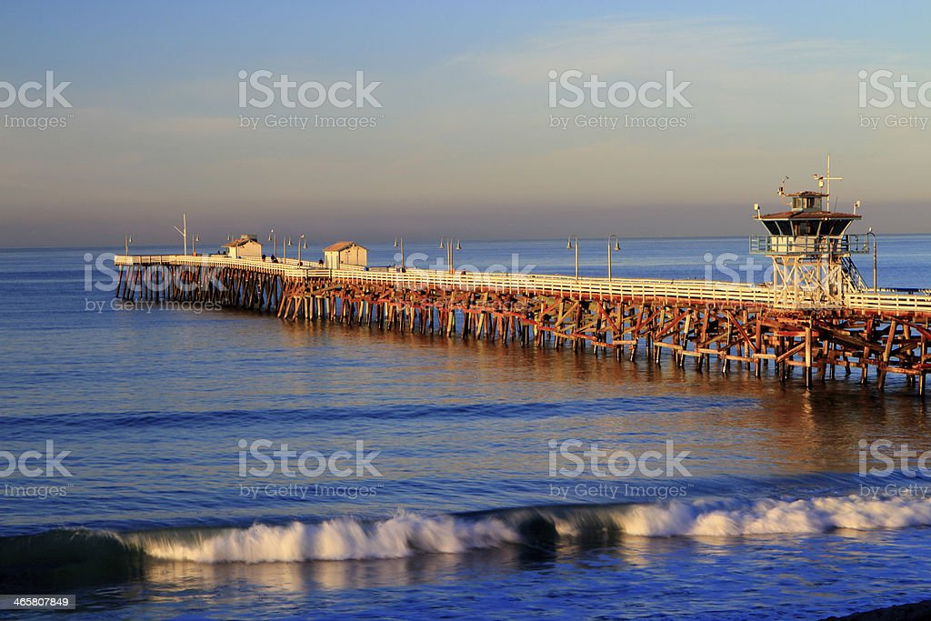 Morning at San Clemente Pier stock photo