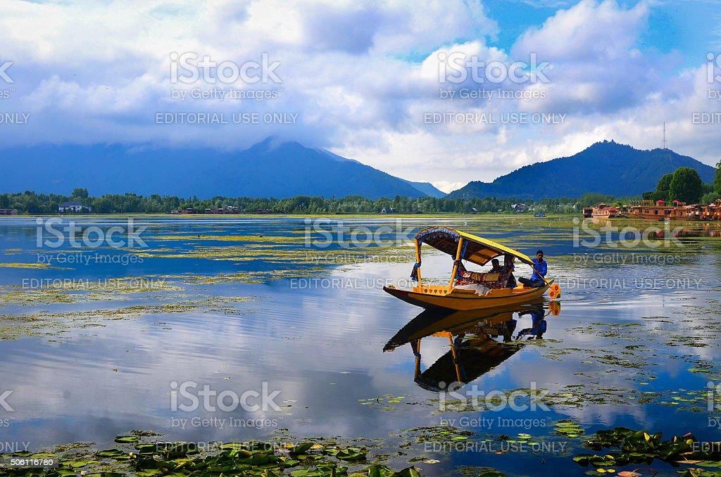 Morning at the paradise-Srinagar stock photo