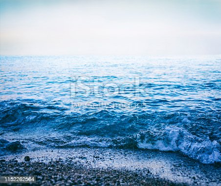 Sea waves and sky background