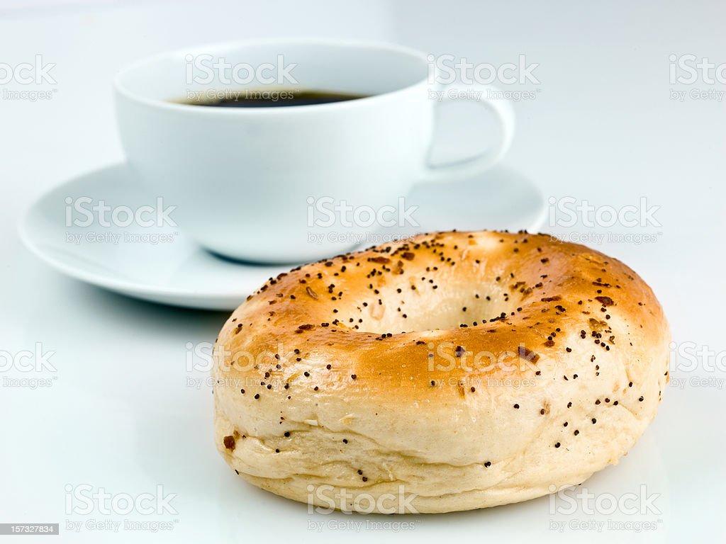 Morning Bagel royalty-free stock photo