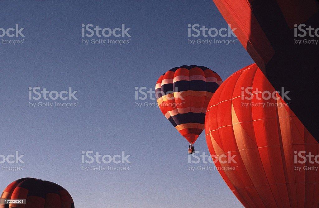 Morning Balloon Launch royalty-free stock photo