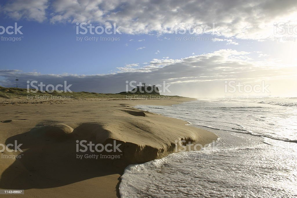 Morning beach royalty-free stock photo