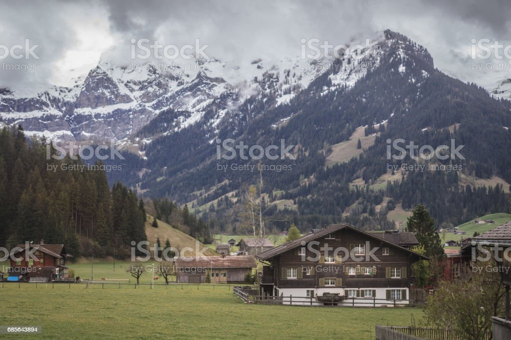 Morning Bernese Oberland foto de stock royalty-free