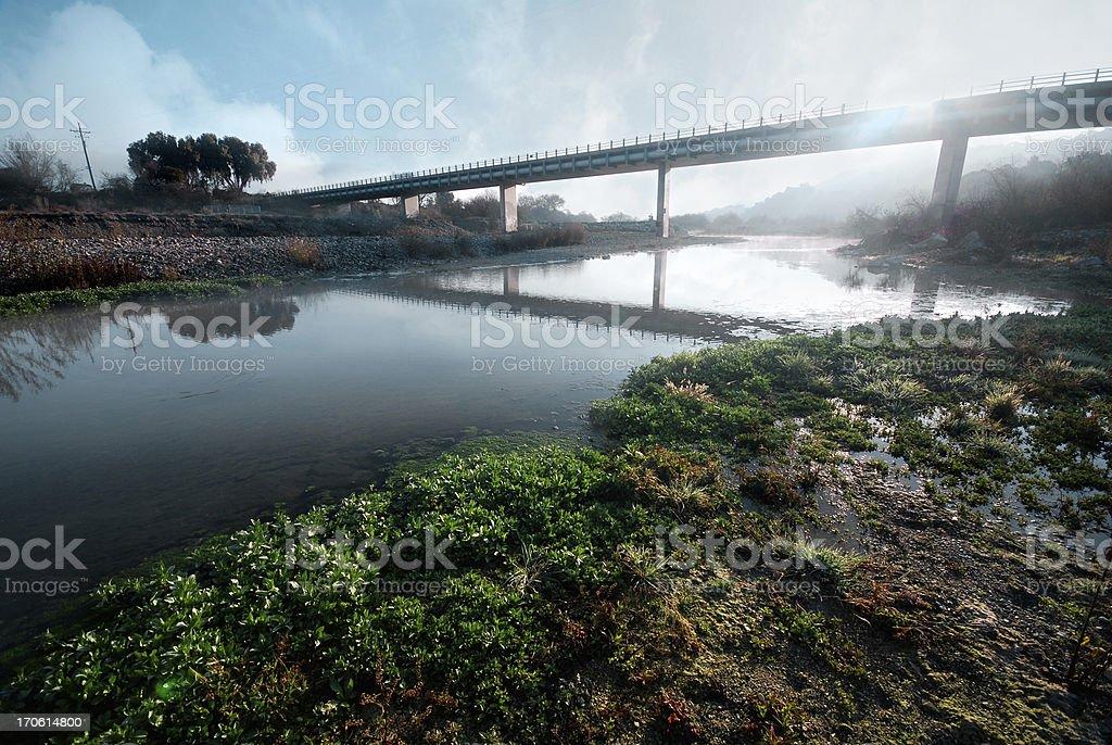 Morning Bridge royalty-free stock photo