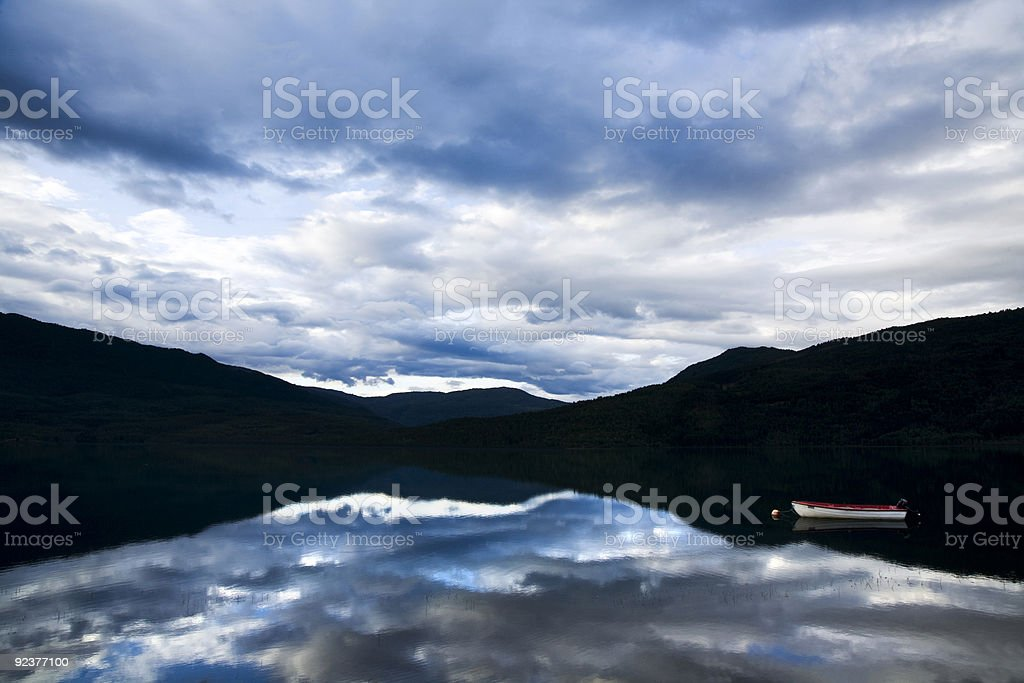 morning by the lake royalty-free stock photo