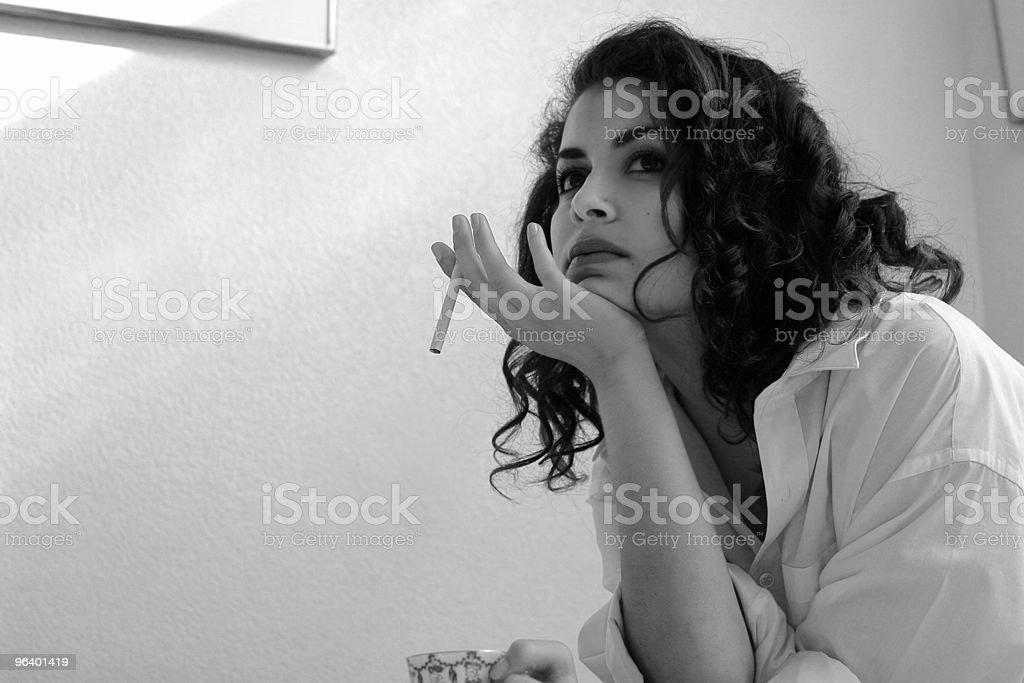 Morning cigarette - Royalty-free Addiction Stock Photo