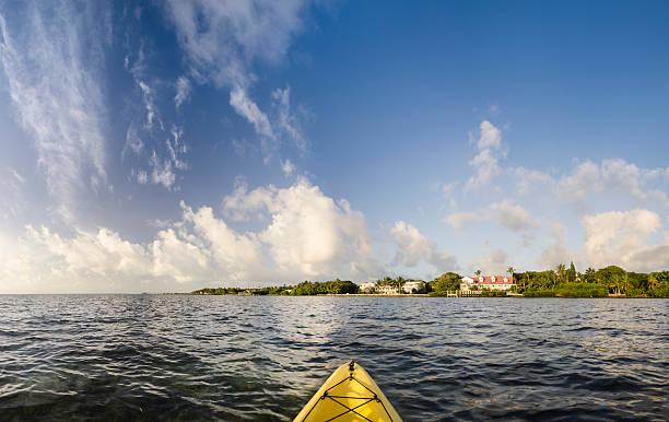 Morning Cloud Reflections Florida Keys stock photo