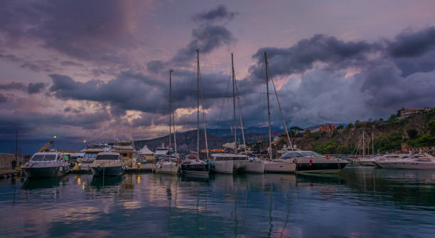 Morning Clouds In Sorrento stock photo
