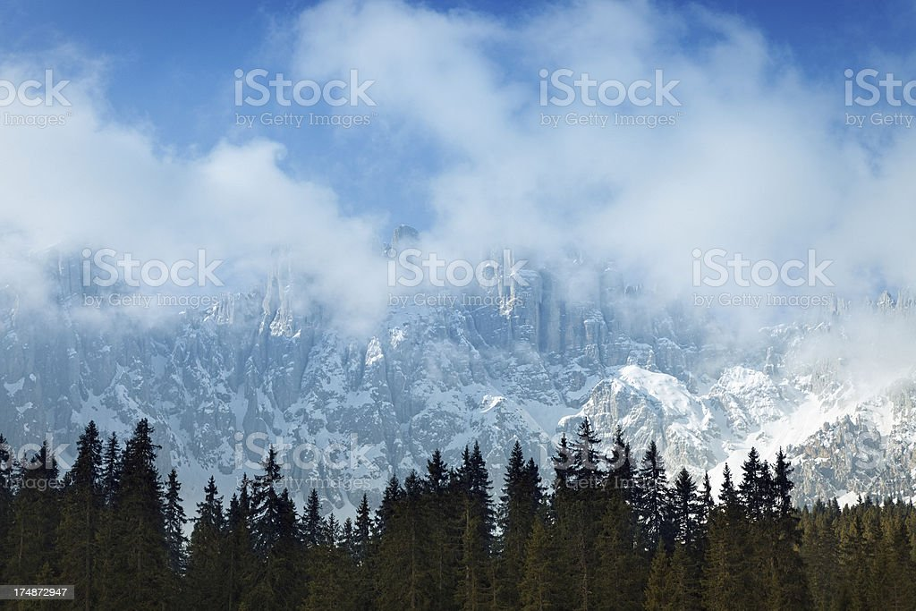 morning clouds in the mountians royalty-free stock photo