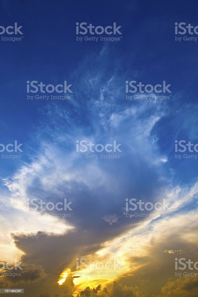 Morning Cloudscape - Dramatic Skies royalty-free stock photo