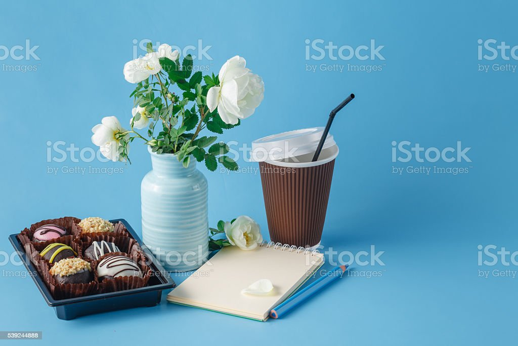 morning coffee and cake royalty-free stock photo