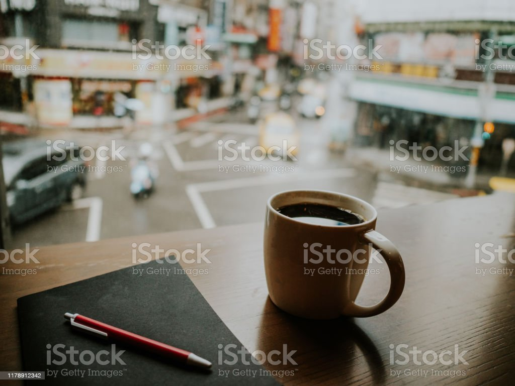 Morning Coffee And Note Book In A Rainy Day In Asia Stock Photo Download Image Now Istock