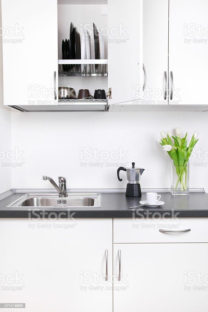 Morning coffee, kitchen interior royalty-free stock photo