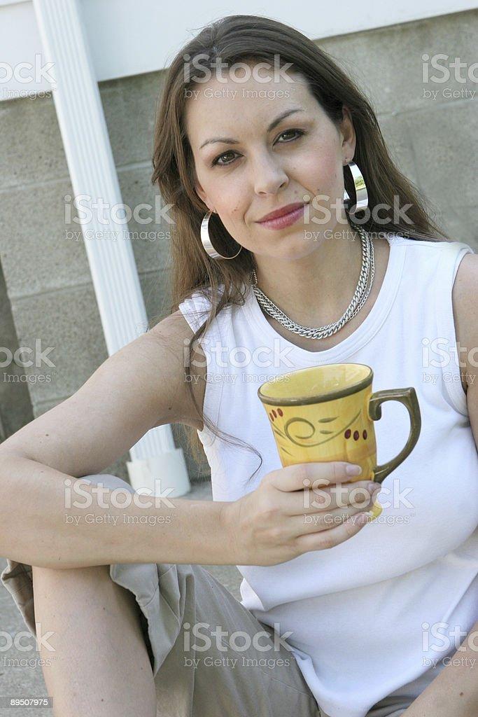 Morning coffee royalty-free stock photo