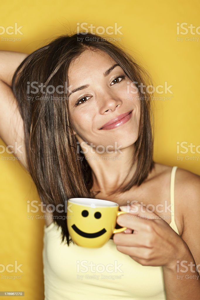 Morning Coffee Woman Tired stock photo