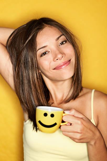 Morning Coffee Woman Tired stock photo