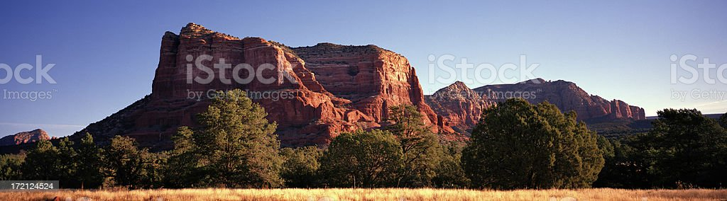 Morning, Courthouse Butte, Sedona, Arizona, United States. royalty-free stock photo