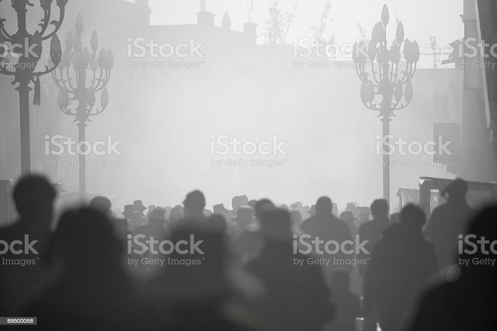 morning crowd royalty-free stock photo