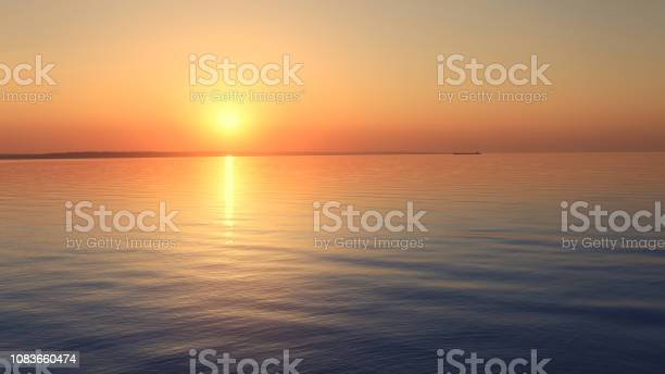 Photo of morning dawn on the river