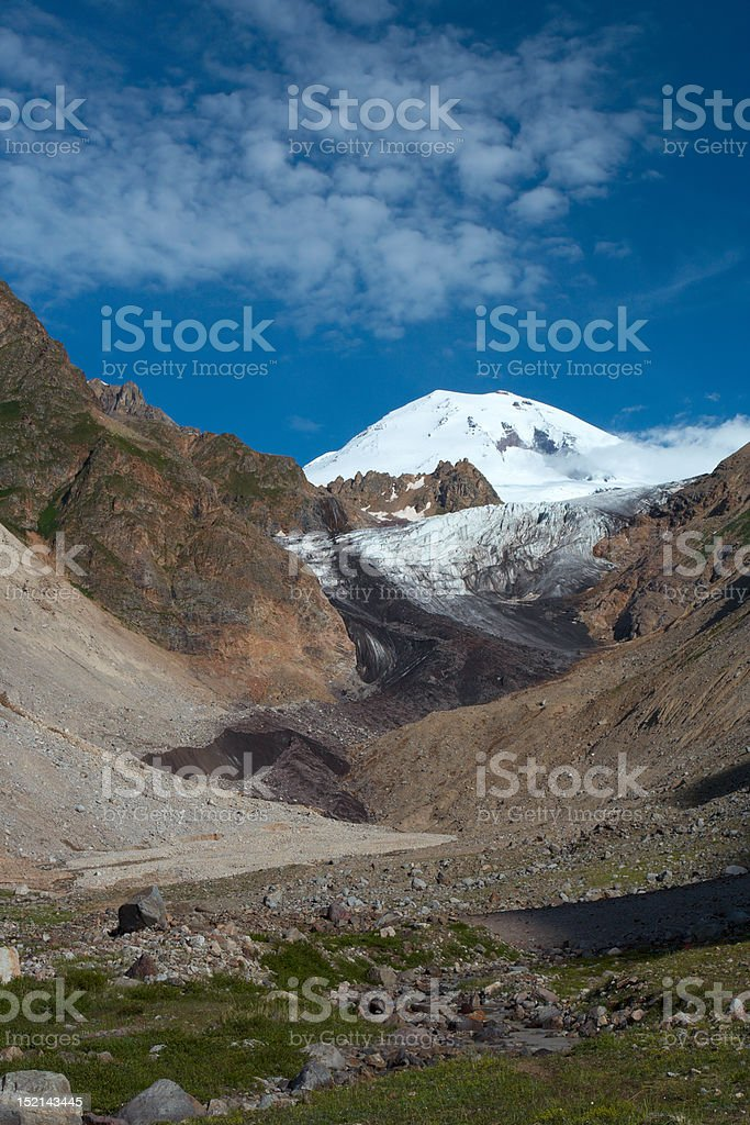 morning Elbrus stock photo