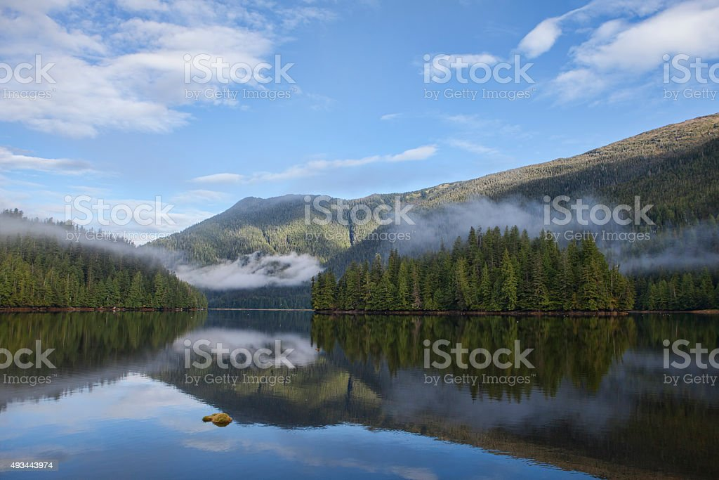 Morning Fog Clearing stock photo