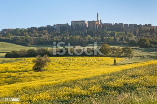 948424058istockphoto Morning fog view on Pienza town 177428967