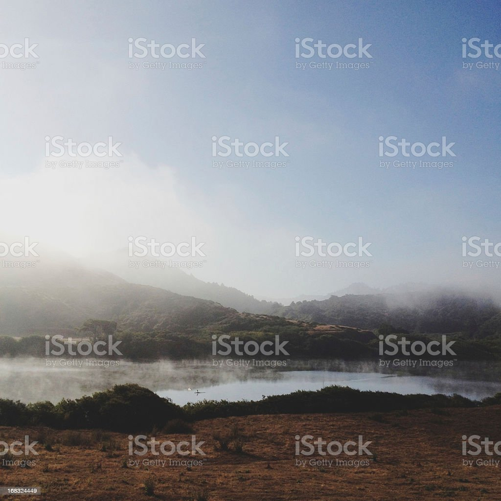 Morning Foggy Reflection stock photo