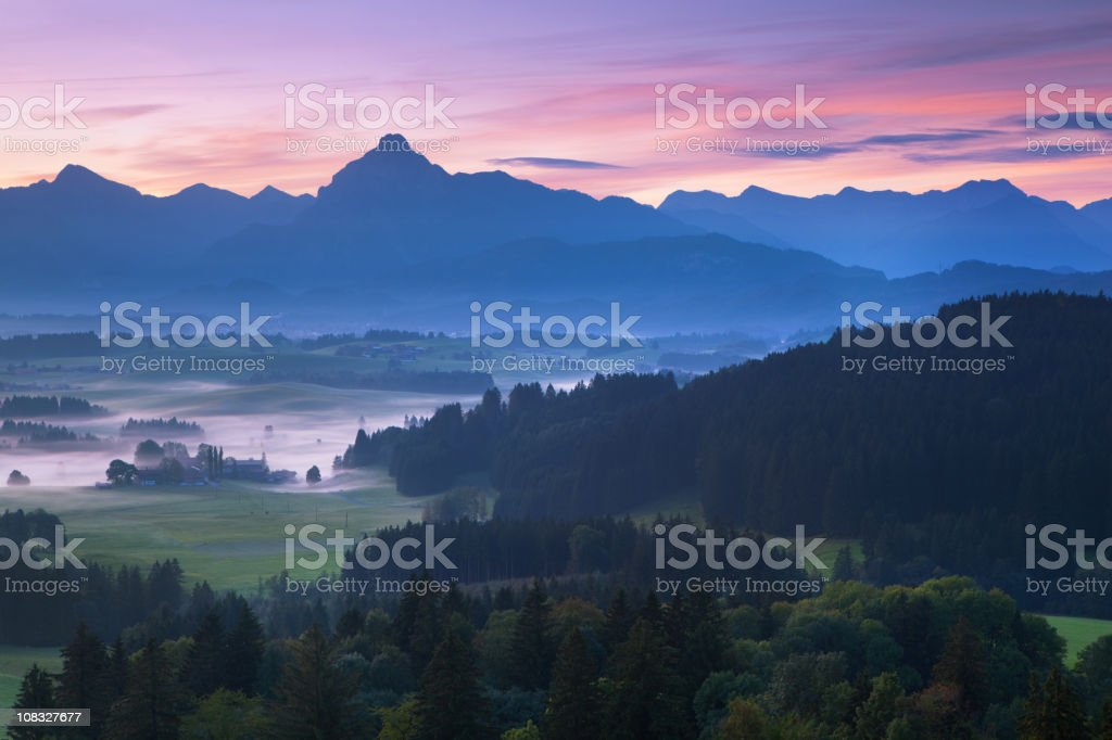morning glory in bavaria germany royalty-free stock photo