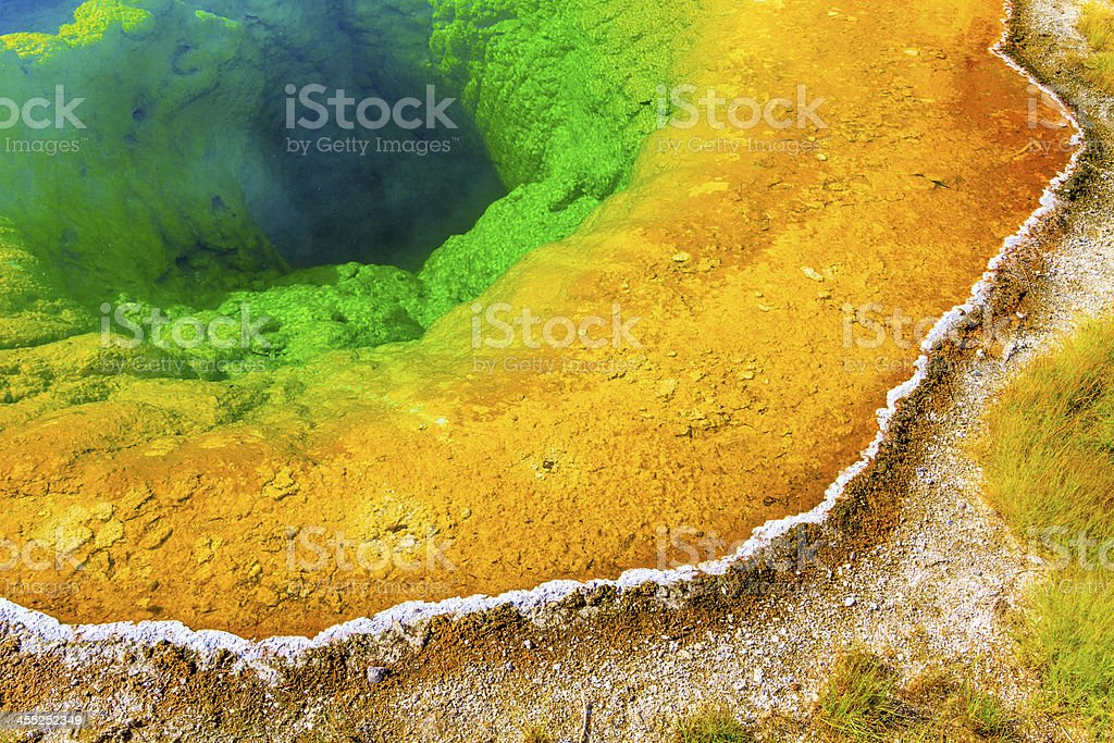 Morning Glory Pool, Yellowstone National Park, Wyoming stock photo