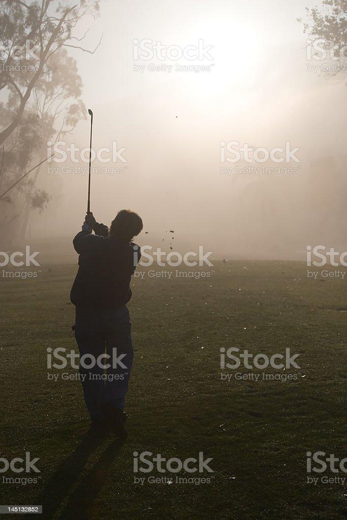 Morning Golfers royalty-free stock photo
