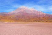 Morning highland volcanic landscape in Atacama desert. Chile.