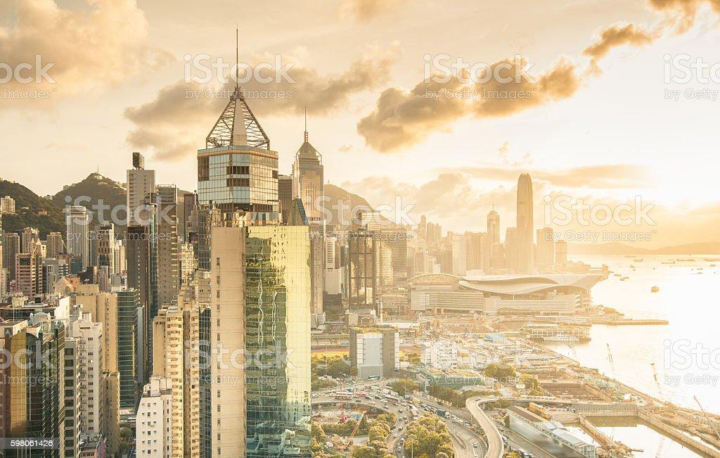 Morning Hong Kong, China stock photo