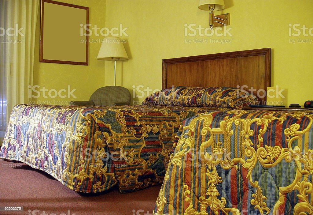 Morning Hotel Bedroom - Travel royalty-free stock photo