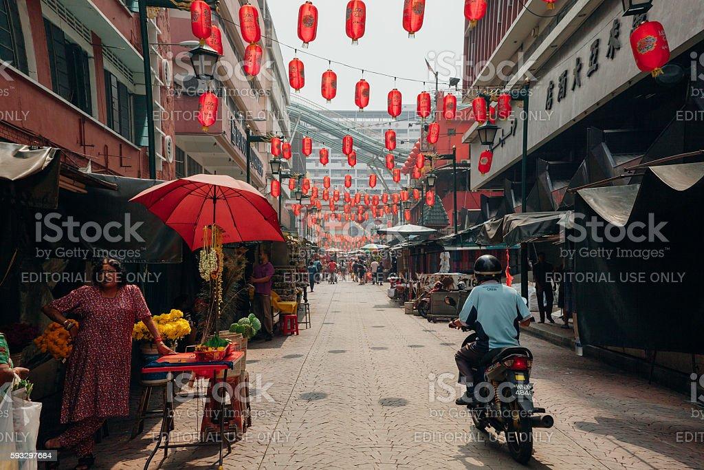 Morning hour in Chinatown, Kuala Lumpur, Malaysia stock photo