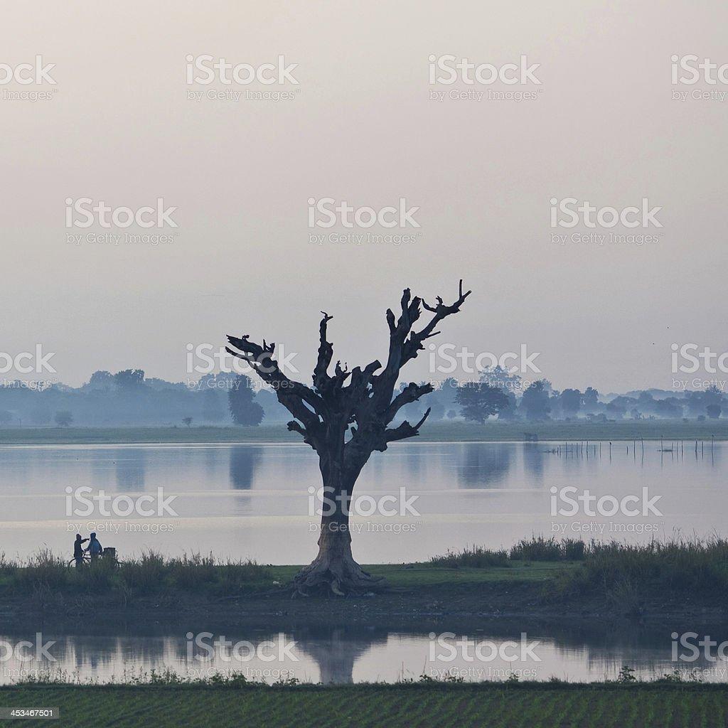 Morning in Amarapura, Mandalay Division, Myanmar royalty-free stock photo