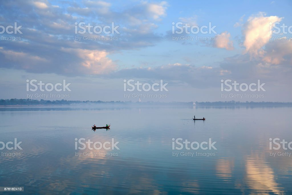 Morning in Amarapura, Myanmar stock photo