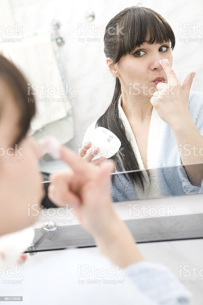 morning in bathroom royalty-free stock photo