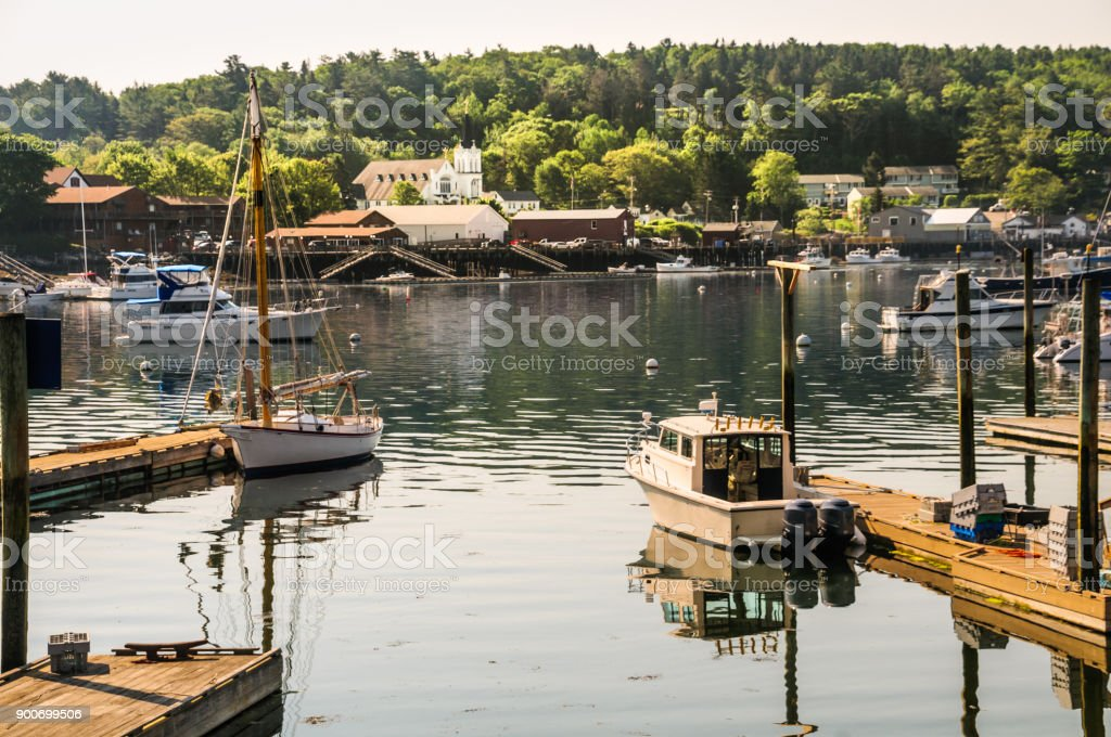 Morning in Boothbay stock photo