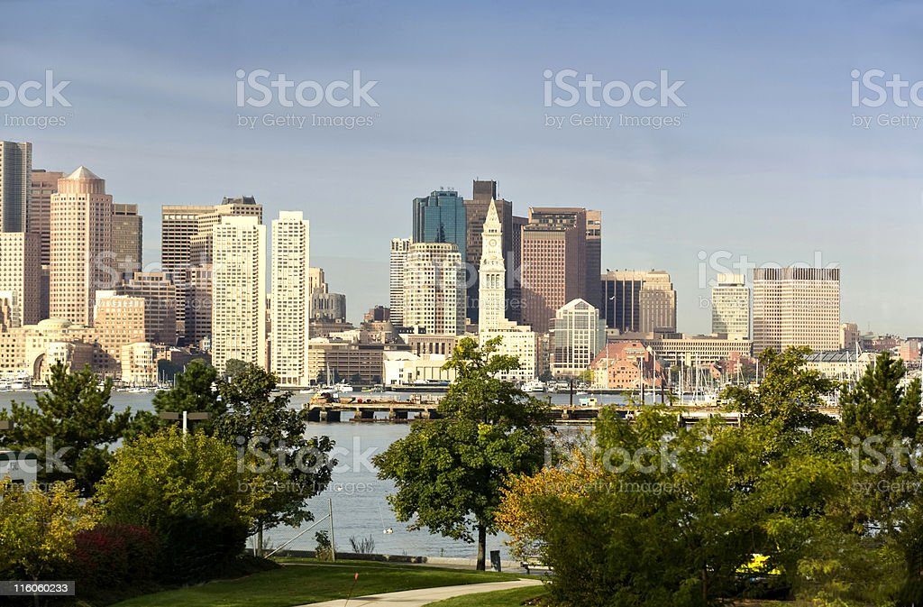 Morning in Boston royalty-free stock photo