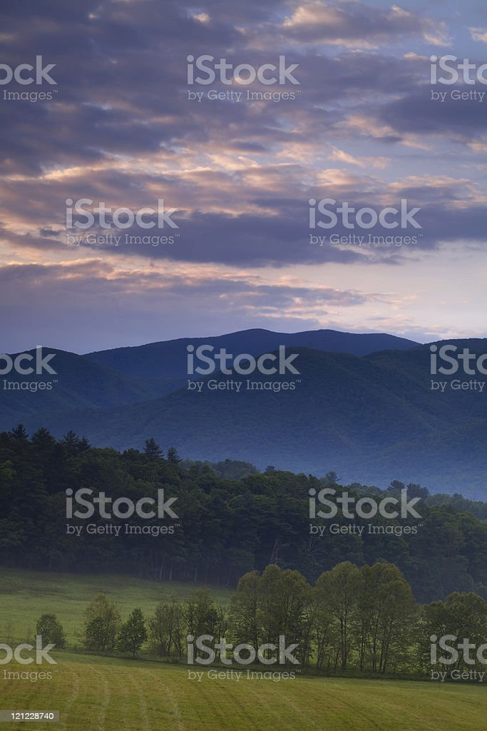Morning in Cades Cove stock photo