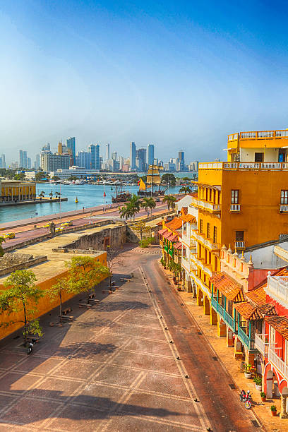morning in cartagena - colombia stock photos and pictures