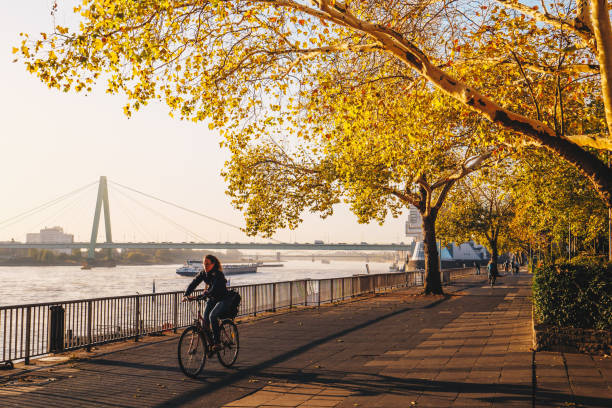 Cologne, Germany - September 2018: Morning in Cologne, Germany stock photo