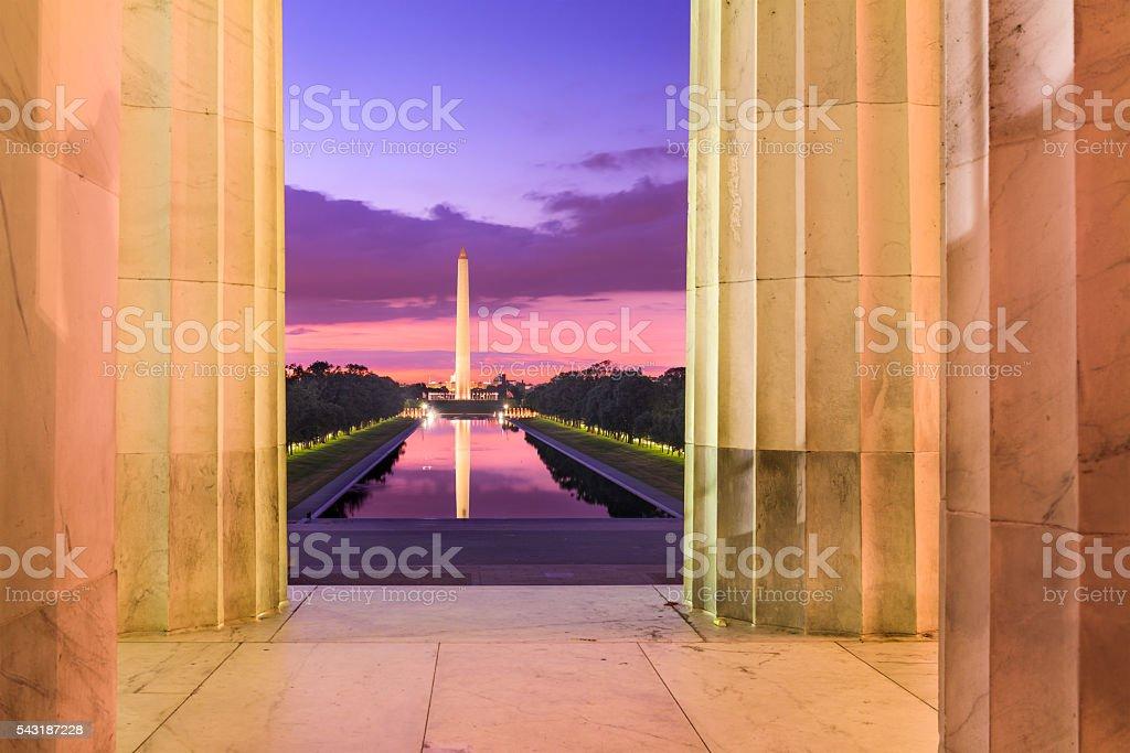 Morning in DC stock photo