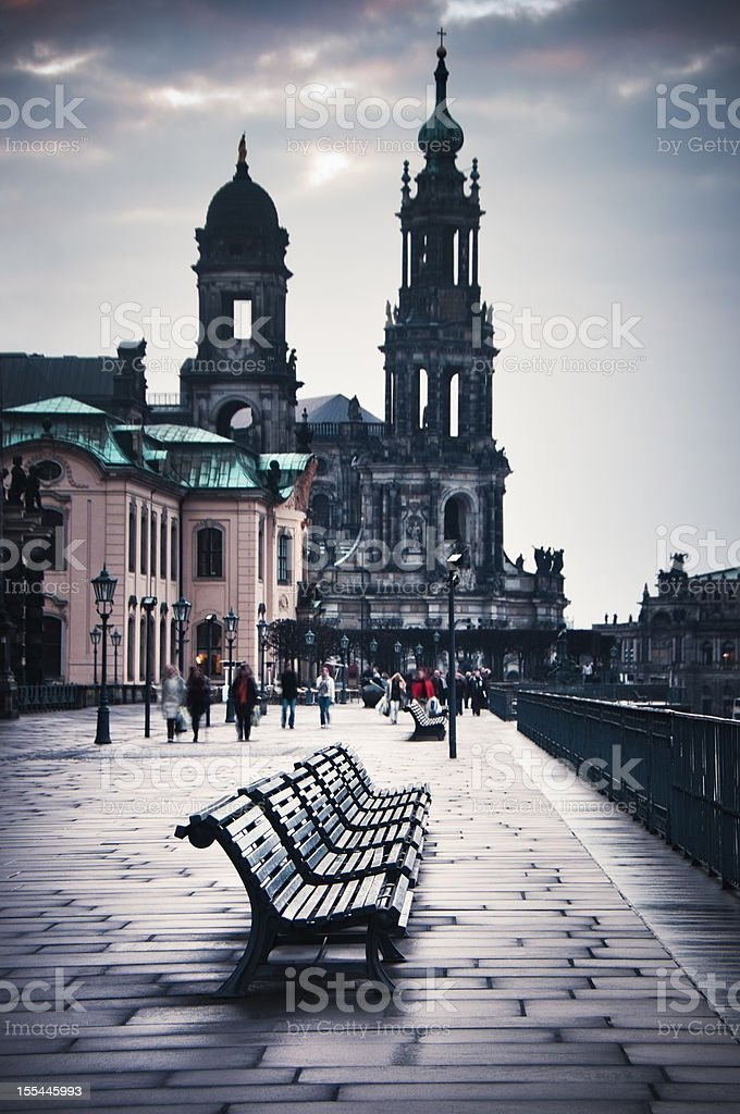 Morning in Dresden, Germany royalty-free stock photo